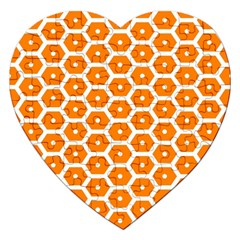 Golden Be Hive Pattern Jigsaw Puzzle (heart)