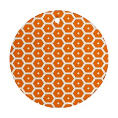 Golden Be Hive Pattern Round Ornament (two Sides)