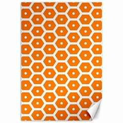 Golden Be Hive Pattern Canvas 12  X 18