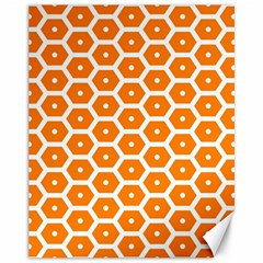 Golden Be Hive Pattern Canvas 11  x 14
