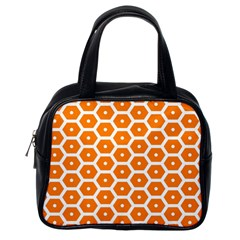 Golden Be Hive Pattern Classic Handbags (one Side)