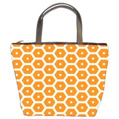 Golden Be Hive Pattern Bucket Bags