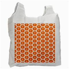 Golden Be Hive Pattern Recycle Bag (one Side)