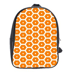 Golden Be Hive Pattern School Bags(large)