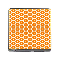 Golden Be Hive Pattern Memory Card Reader (square)