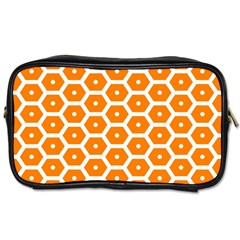 Golden Be Hive Pattern Toiletries Bags 2 Side
