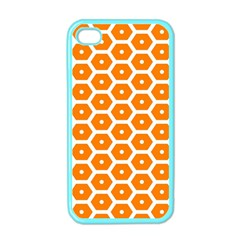 Golden Be Hive Pattern Apple Iphone 4 Case (color)