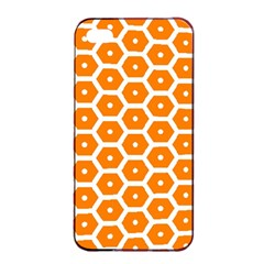 Golden Be Hive Pattern Apple Iphone 4/4s Seamless Case (black)