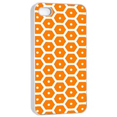 Golden Be Hive Pattern Apple Iphone 4/4s Seamless Case (white)
