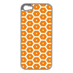 Golden Be Hive Pattern Apple Iphone 5 Case (silver)