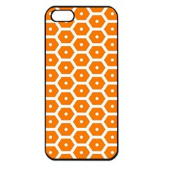 Golden Be Hive Pattern Apple Iphone 5 Seamless Case (black)
