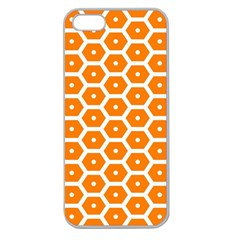 Golden Be Hive Pattern Apple Seamless Iphone 5 Case (clear)