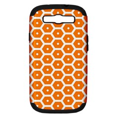 Golden Be Hive Pattern Samsung Galaxy S Iii Hardshell Case (pc+silicone)