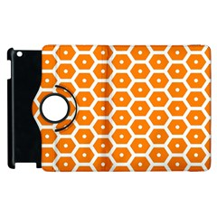 Golden Be Hive Pattern Apple Ipad 3/4 Flip 360 Case