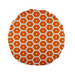 Golden Be Hive Pattern Standard 15  Premium Round Cushions