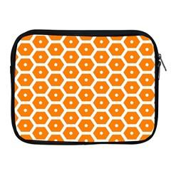 Golden Be Hive Pattern Apple Ipad 2/3/4 Zipper Cases