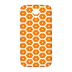 Golden Be Hive Pattern Samsung Galaxy S4 I9500/i9505  Hardshell Back Case