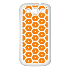 Golden Be Hive Pattern Samsung Galaxy S3 Back Case (white)
