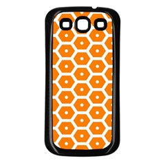 Golden Be Hive Pattern Samsung Galaxy S3 Back Case (black)