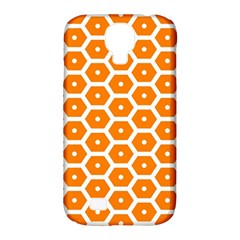 Golden Be Hive Pattern Samsung Galaxy S4 Classic Hardshell Case (pc+silicone)