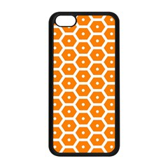 Golden Be Hive Pattern Apple Iphone 5c Seamless Case (black)