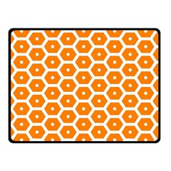Golden Be Hive Pattern Double Sided Fleece Blanket (small)
