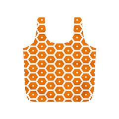 Golden Be Hive Pattern Full Print Recycle Bags (s)