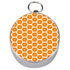 Golden Be Hive Pattern Silver Compasses