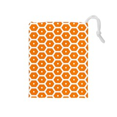 Golden Be Hive Pattern Drawstring Pouches (medium)