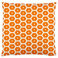 Golden Be Hive Pattern Standard Flano Cushion Case (one Side)