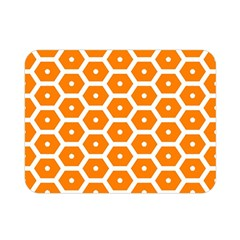 Golden Be Hive Pattern Double Sided Flano Blanket (mini)