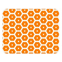 Golden Be Hive Pattern Double Sided Flano Blanket (large)