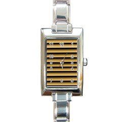 Golden Line Background Rectangle Italian Charm Watch