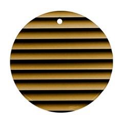 Golden Line Background Ornament (round)