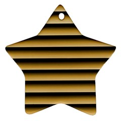 Golden Line Background Ornament (star)