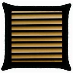 Golden Line Background Throw Pillow Case (black)