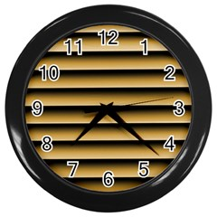 Golden Line Background Wall Clocks (Black)