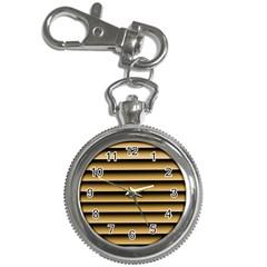 Golden Line Background Key Chain Watches