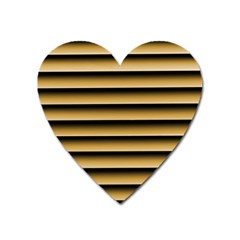 Golden Line Background Heart Magnet