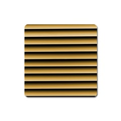 Golden Line Background Square Magnet