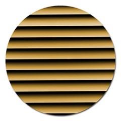 Golden Line Background Magnet 5  (round)
