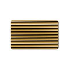 Golden Line Background Magnet (name Card)