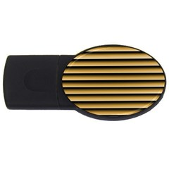 Golden Line Background Usb Flash Drive Oval (2 Gb)