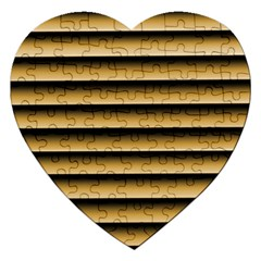 Golden Line Background Jigsaw Puzzle (heart)