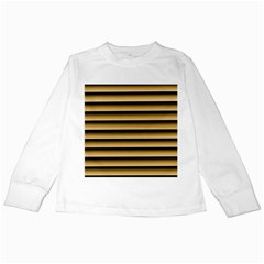 Golden Line Background Kids Long Sleeve T Shirts