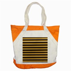 Golden Line Background Accent Tote Bag