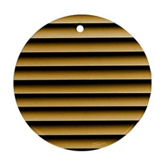 Golden Line Background Round Ornament (two Sides)