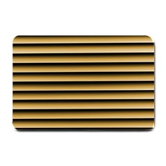 Golden Line Background Small Doormat