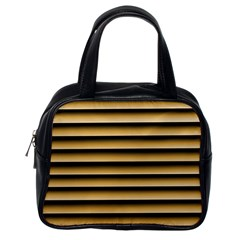 Golden Line Background Classic Handbags (one Side)