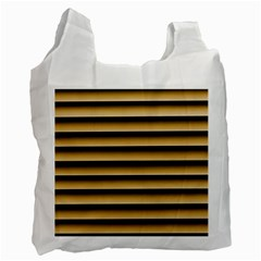 Golden Line Background Recycle Bag (one Side)
